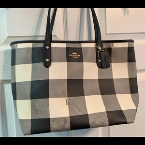 Coach navy and white purse